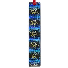 Blue Bee Hive Pattern Large Book Marks by Amaryn4rt