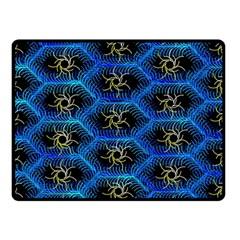 Blue Bee Hive Pattern Double Sided Fleece Blanket (small)  by Amaryn4rt