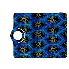 Blue Bee Hive Pattern Kindle Fire Hdx 8 9  Flip 360 Case by Amaryn4rt