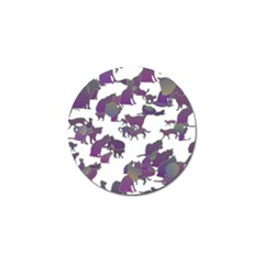 Many Cats Silhouettes Texture Golf Ball Marker (4 Pack) by Amaryn4rt