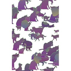 Many Cats Silhouettes Texture 5 5  X 8 5  Notebooks by Amaryn4rt