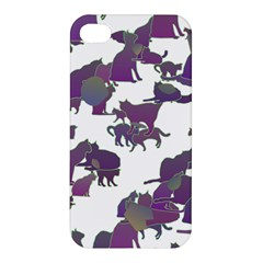 Many Cats Silhouettes Texture Apple Iphone 4/4s Hardshell Case by Amaryn4rt