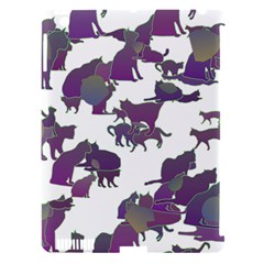Many Cats Silhouettes Texture Apple Ipad 3/4 Hardshell Case (compatible With Smart Cover) by Amaryn4rt