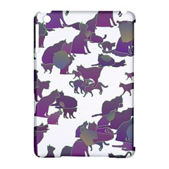 Many Cats Silhouettes Texture Apple Ipad Mini Hardshell Case (compatible With Smart Cover) by Amaryn4rt