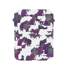 Many Cats Silhouettes Texture Apple Ipad 2/3/4 Protective Soft Cases by Amaryn4rt