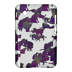 Many Cats Silhouettes Texture Samsung Galaxy Tab 2 (7 ) P3100 Hardshell Case  by Amaryn4rt