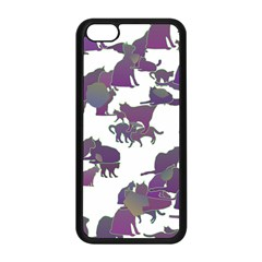 Many Cats Silhouettes Texture Apple Iphone 5c Seamless Case (black) by Amaryn4rt