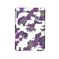 Many Cats Silhouettes Texture Ipad Mini 2 Hardshell Cases by Amaryn4rt