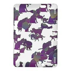 Many Cats Silhouettes Texture Kindle Fire Hdx 8 9  Hardshell Case by Amaryn4rt