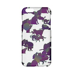 Many Cats Silhouettes Texture Apple Iphone 6/6s Hardshell Case by Amaryn4rt
