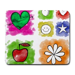A Set Of Watercolour Icons Large Mousepads by Amaryn4rt