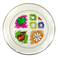 A Set Of Watercolour Icons Porcelain Plates by Amaryn4rt