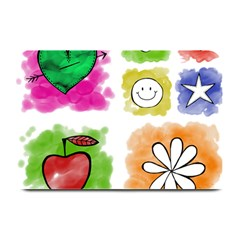 A Set Of Watercolour Icons Plate Mats by Amaryn4rt