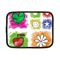 A Set Of Watercolour Icons Netbook Case (small)  by Amaryn4rt
