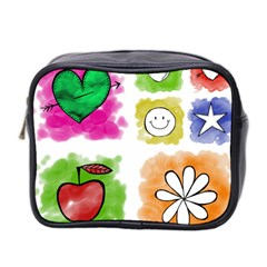 A Set Of Watercolour Icons Mini Toiletries Bag 2 Side by Amaryn4rt
