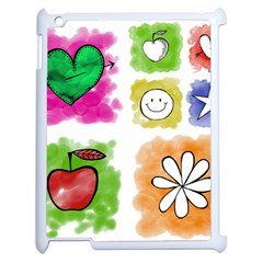A Set Of Watercolour Icons Apple Ipad 2 Case (white) by Amaryn4rt
