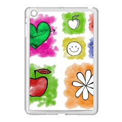 A Set Of Watercolour Icons Apple Ipad Mini Case (white) by Amaryn4rt