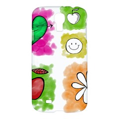 A Set Of Watercolour Icons Samsung Galaxy S4 I9500/i9505 Hardshell Case by Amaryn4rt