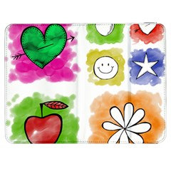 A Set Of Watercolour Icons Samsung Galaxy Tab 7  P1000 Flip Case by Amaryn4rt
