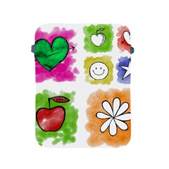 A Set Of Watercolour Icons Apple Ipad 2/3/4 Protective Soft Cases by Amaryn4rt