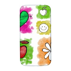 A Set Of Watercolour Icons Samsung Galaxy S4 I9500/i9505  Hardshell Back Case by Amaryn4rt