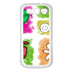 A Set Of Watercolour Icons Samsung Galaxy S3 Back Case (white) by Amaryn4rt