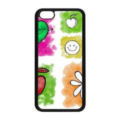 A Set Of Watercolour Icons Apple Iphone 5c Seamless Case (black) by Amaryn4rt