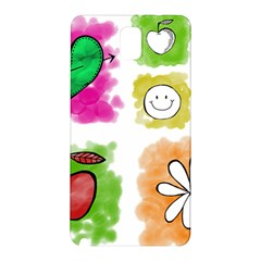 A Set Of Watercolour Icons Samsung Galaxy Note 3 N9005 Hardshell Back Case by Amaryn4rt