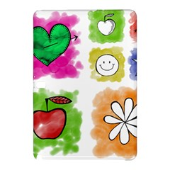 A Set Of Watercolour Icons Samsung Galaxy Tab Pro 10 1 Hardshell Case by Amaryn4rt