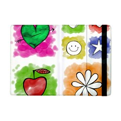 A Set Of Watercolour Icons Ipad Mini 2 Flip Cases by Amaryn4rt