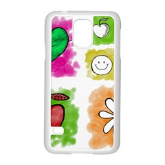 A Set Of Watercolour Icons Samsung Galaxy S5 Case (white) by Amaryn4rt