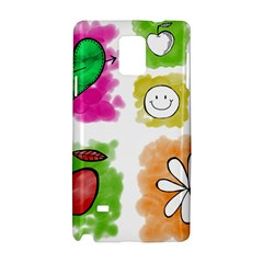 A Set Of Watercolour Icons Samsung Galaxy Note 4 Hardshell Case by Amaryn4rt