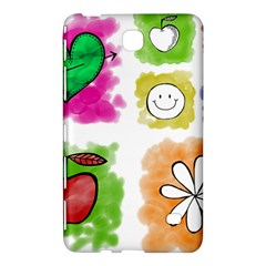 A Set Of Watercolour Icons Samsung Galaxy Tab 4 (7 ) Hardshell Case  by Amaryn4rt