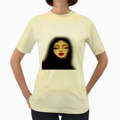 Girl Women s Yellow T Shirt by Valentinaart