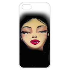 Girl Apple Iphone 5 Seamless Case (white) by Valentinaart
