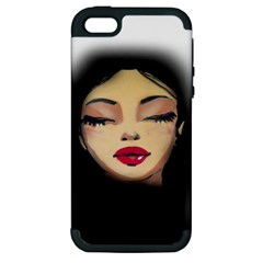 Girl Apple Iphone 5 Hardshell Case (pc+silicone) by Valentinaart