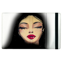 Girl Apple Ipad 3/4 Flip Case by Valentinaart