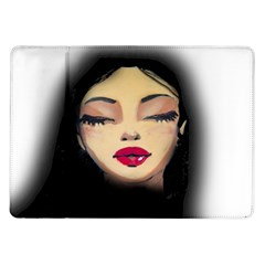 Girl Samsung Galaxy Tab 10 1  P7500 Flip Case by Valentinaart