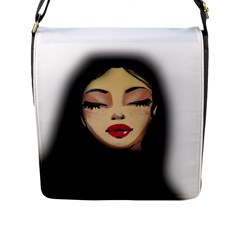 Girl Flap Messenger Bag (l)  by Valentinaart
