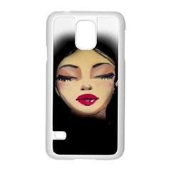 Girl Samsung Galaxy S5 Case (white) by Valentinaart