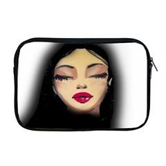 Girl Apple Macbook Pro 17  Zipper Case by Valentinaart