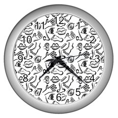 Body Parts Wall Clocks (silver)  by Valentinaart