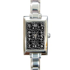 Body Parts Rectangle Italian Charm Watch by Valentinaart