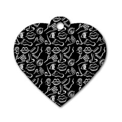 Body Parts Dog Tag Heart (two Sides) by Valentinaart