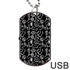 Body Parts Dog Tag Usb Flash (two Sides) by Valentinaart