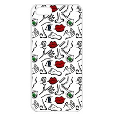 Body Parts Apple Iphone 5 Seamless Case (white) by Valentinaart