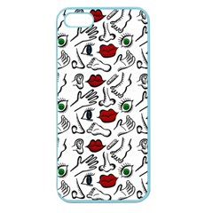 Body Parts Apple Seamless Iphone 5 Case (color) by Valentinaart