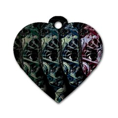 Wild Child Dog Tag Heart (one Side) by Valentinaart
