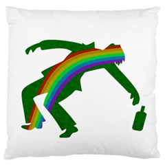 St  Patricks Large Flano Cushion Case (two Sides) by Valentinaart