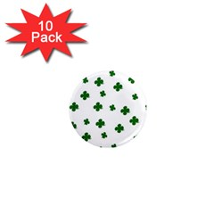 St  Patrick s Clover Pattern 1  Mini Magnet (10 Pack)  by Valentinaart